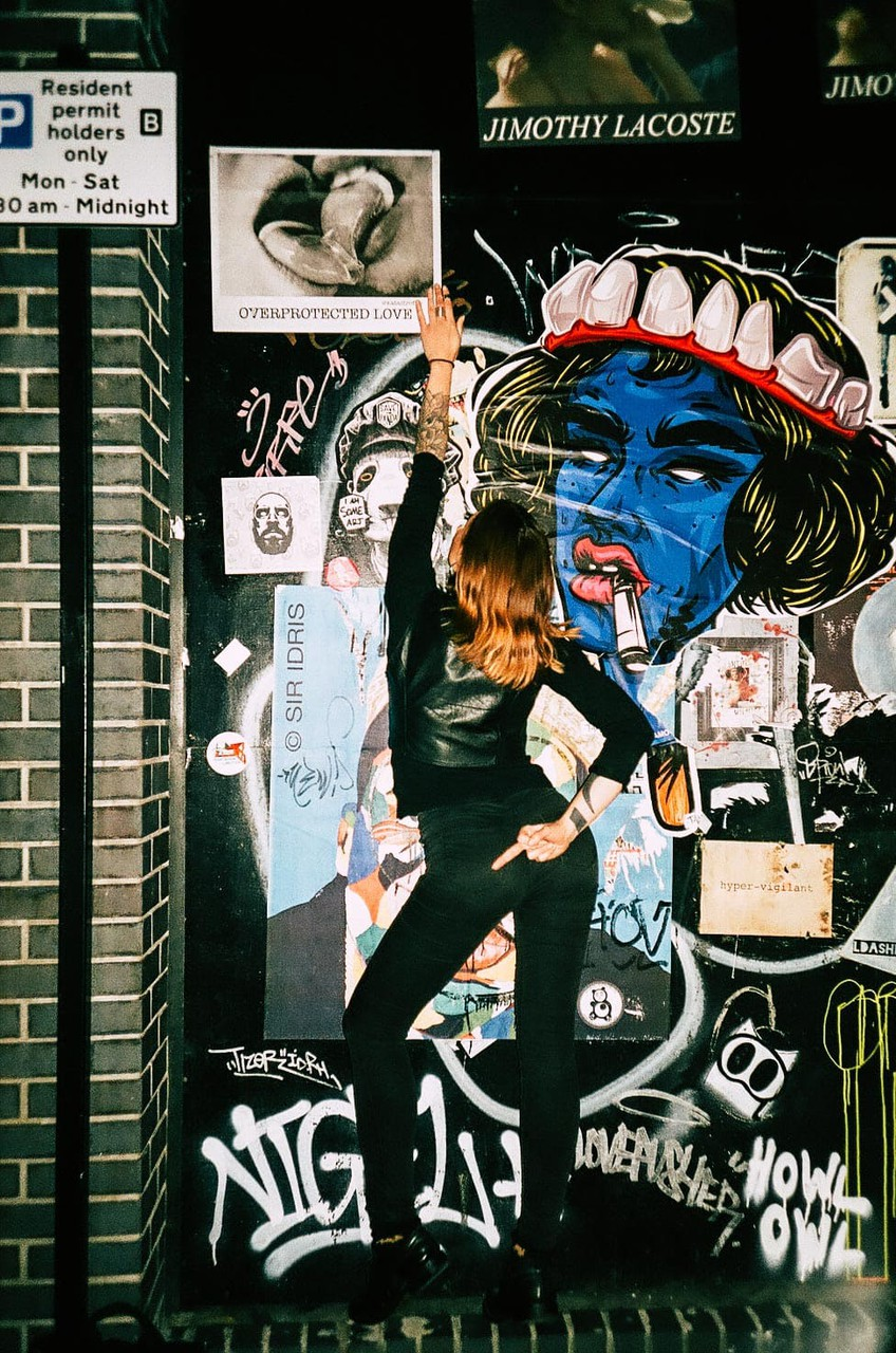 film photography of overprotected love street art project by katastrofffe