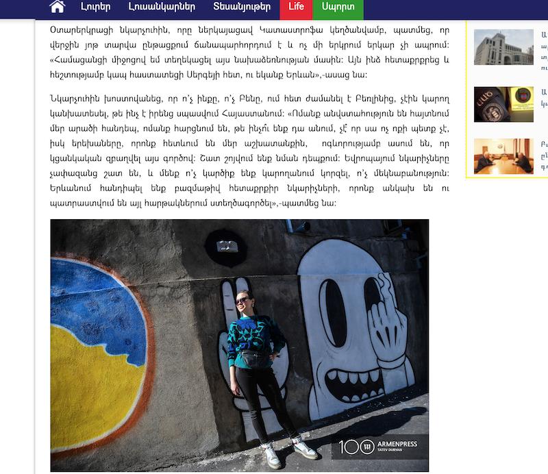 armenpress publication