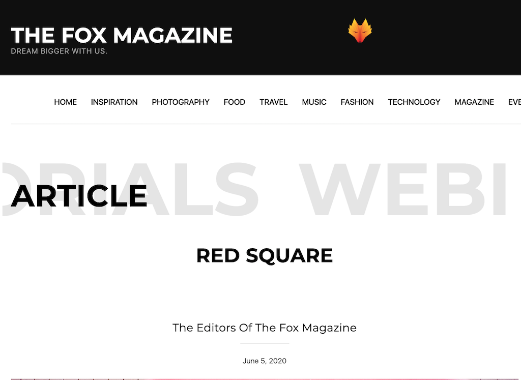 publication fox magazine