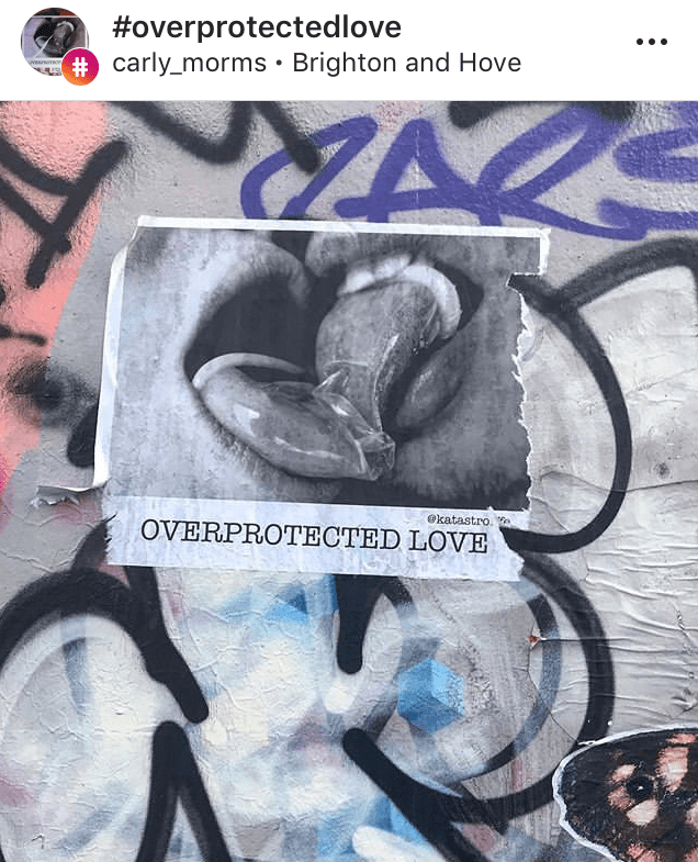 overprotected love street art project  by katastrofffe