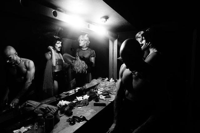 Backstage of the Dragqueen show in Istanbul